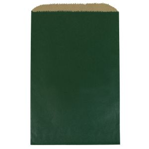 """Forest Green, Paper Merchandise Bags, 6-1/4"""" x 9-1/4"""""""