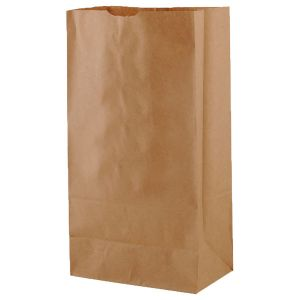 """#12 Brown recycled paper grocery bags, 7-1/8"""" x 4-3/8"""" x 13-15/16"""""""