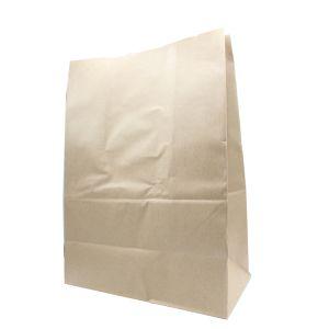 "Recycled Natural Kraft Paper Shopping Bags, 12"" x 7"" x 17""  1/6 barrel"