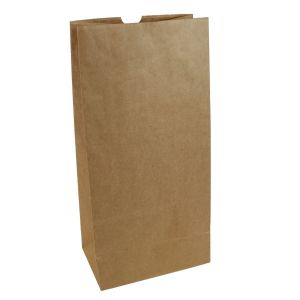 """#16 Brown recycled paper grocery bags, 7-11/16"""" x 4-3/8"""" x 16-1/16"""""""