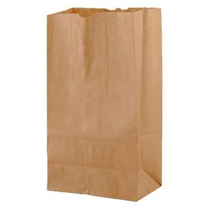 """#6 Brown recycled paper grocery bags, 6"""" x 3-5/8"""" x 11-1/16"""""""