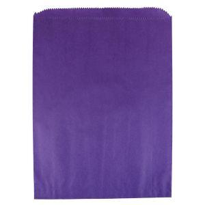 "Purple , Paper Merchandise Bags, 8-1/2"" x 11"""