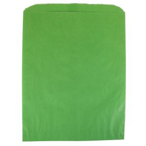 """Lime Green, Paper Merchandise Bags, 8-1/2"""" x 11"""""""