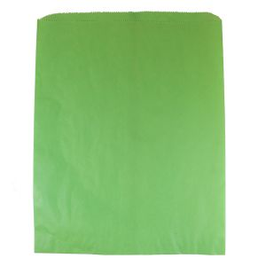 """Lime Green, Paper Merchandise Bags, 12"""" x 15"""""""