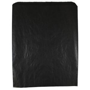 "Black, Paper Merchandise Bags, 12"" x 15"""
