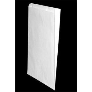 "White Paper Merchandise Bags, 12"" x 2-3/4"" x 18"""