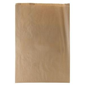 "Natural Kraft Paper Merchandise Bags, 16"" x 3-3/4"" x 24"""