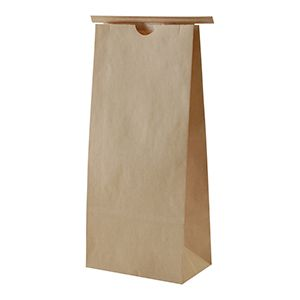 "Stand-up Pouches, 5#, Natural Kraft, NO Tin Tie, 6.5"" x 4"" x 18"""