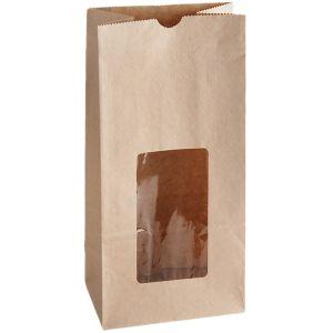 Grease Resistant Bakery Bag, Natural Kraft