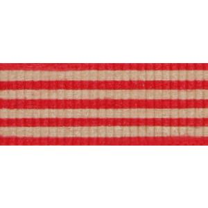 Red/Kraft, Stripe Natural Curling Ribbon