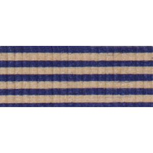 Navy/Kraft, Stripe Natural Curling Ribbon