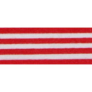 Red/White, Stripe Natural Curling Ribbon