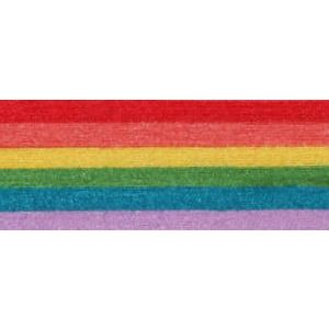 Rainbow, Stripe Natural Curling Ribbon