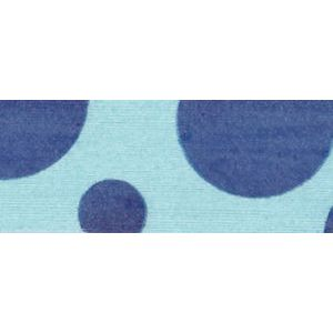 Aqua/Dark Blue, Dots Curling Ribbon