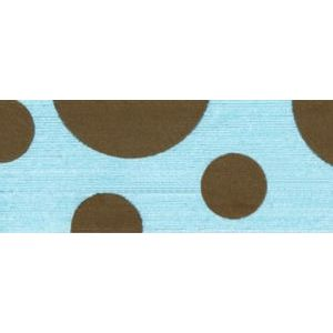 Aqua/Brown, Dots Curling Ribbon