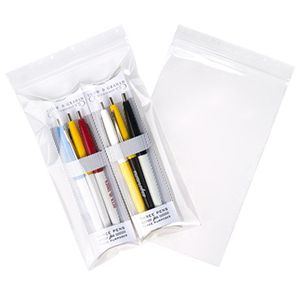 """Clear Zipper Reclosable Poly Bags, 5"""" x 7"""""""