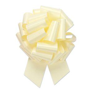 Eggshell, Flora Satin Perfect Bows