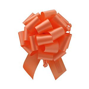 Orange, Flora Satin Perfect Bows
