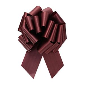 Burgundy, Flora Satin Perfect Bows