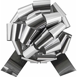 Silver, Glitter Perfect Bows