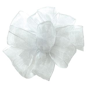 White, Simply Sheer Asiana Fabric Ribbon