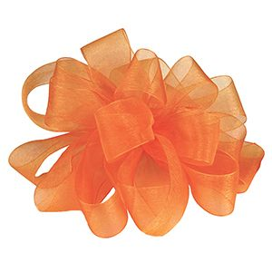 Tropical Orange, Simply Sheer Asiana Fabric Ribbon