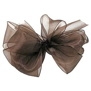 Chocolate, Simply Sheer Asiana Fabric Ribbon