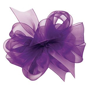 Regal Purple, Simply Sheer Asiana Fabric Ribbon