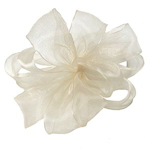 Cream, Simply Sheer Asiana Fabric Ribbon