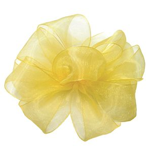 Yellow, Simply Sheer Asiana Fabric Ribbon