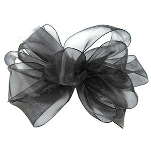 Black, Simply Sheer Asiana Fabric Ribbon