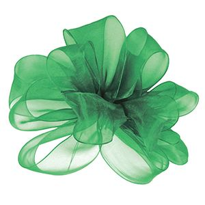 Emerald, Simply Sheer Asiana Fabric Ribbon