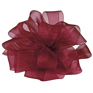 Wine, Simply Sheer Asiana Fabric Ribbon