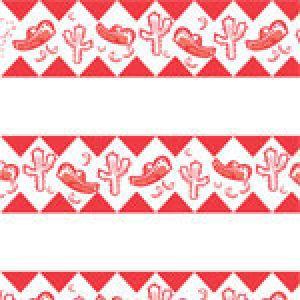 Fiesta Red Pattern, Food Service Tissue Paper