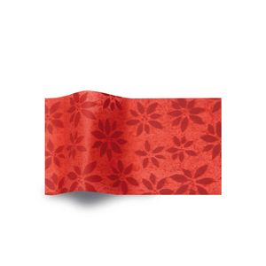 Poinsettia Watermarked, Holiday & Christmas Printed Tissue Paper