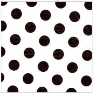 Black, Polka Dot Tissue Paper