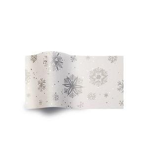 Diamond Snowflakes, Gemstones Patterened Tissue Paper