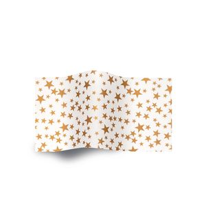 Gold Stars on White, Patterns Tissue Paper