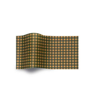 Green Gingham, All Occasion Printed Tissue Paper
