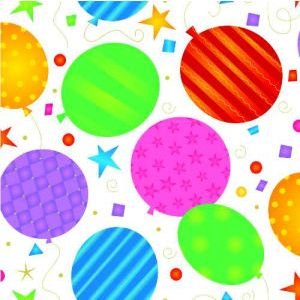 Festive Balloons, All Occasion Printed Tissue Paper