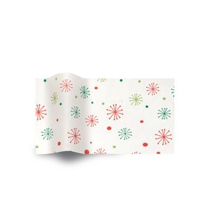 Season's Greetings Snowflakes, Holiday & Christmas Printed Tissue Paper