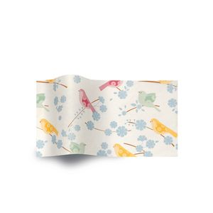 Song Birds, Botanical Printed Tissue Paper