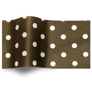 White Dots on Black, Printed Tissue Paper
