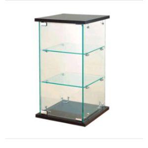 "Display Case, Glass Countertop, 13"" x 13"" x 24"""