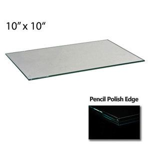 """3/16"""" Tempered Cube Glass, 10"""" x 10"""""""