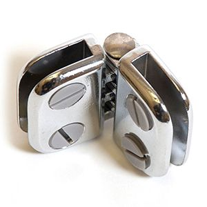 Glass Connector, Hinge, Chrome