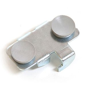 """Shelf Rest with Rubber Buttons, for 1/4"""" brackets & Glass Shelves"""