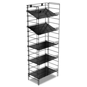 5 Tier Adjustable Wire Rack with Liners, Black