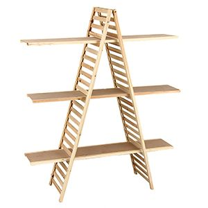 """Display A-Frame with Shelves, 5'(H) x 14.5""""(W)"""
