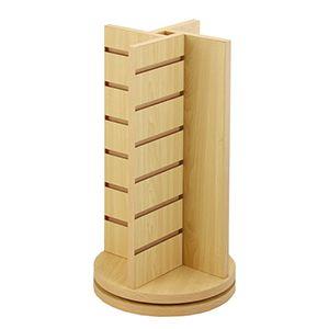 """4-Way Slatwall Countertop Rack, Maple, 21.5"""" x 12"""" x 12"""""""